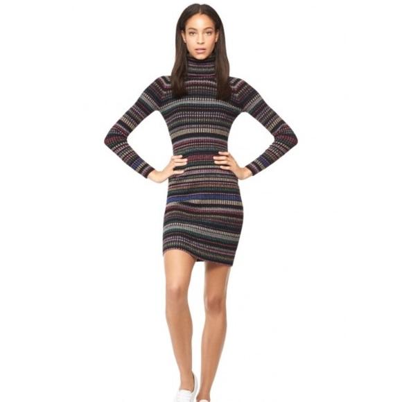 a5bb1db087adb Milly Metallic Striped Sweater Dress. M 5b541b89dcfb5aa88617035f